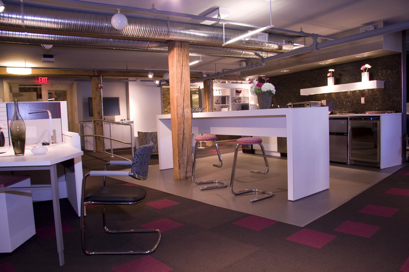 Environments at Work now occupies an expanded office and furniture showroom in Portland.