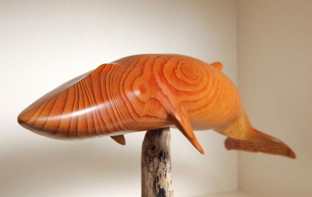 Wayne Robbins says each piece he carves is influenced by the wood he chooses and by a piece's particular characteristics.