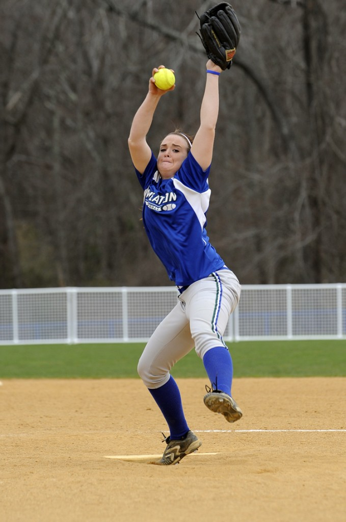 Lesley Warn, the former Deering High ace, was the only healthy pitcher for Wheaton on its spring trip after missing most of her freshman year with mononucleosis.