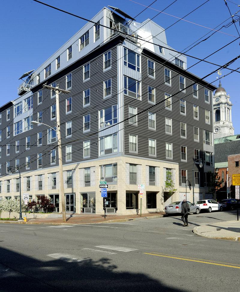 The Chestnut Street Lofts building in Portland