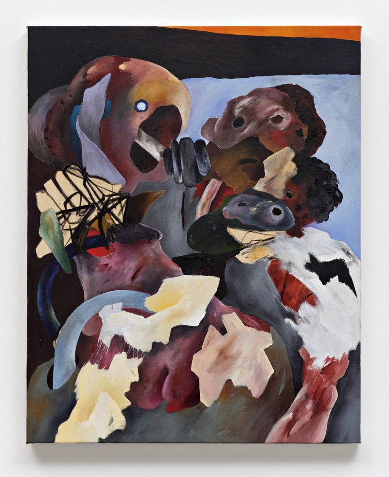 As with this painting, Alsoudani's images, created on huge pieces of canvas and paper in oil, acrylic, charcoal and pastel, reflect the pain and turmoil caused by war. Viewers will see references to Pablo Picasso, Max Beckmann, Otto Dix and Goya.