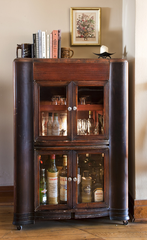 Once libations take over a large portion of your kitchen cupboard space, it's time to find a nice liquor cabinet.