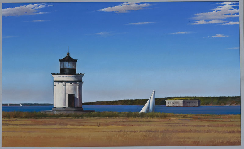 """""""Bug Light,"""" 1987, oil on canvas, 22 by 30 inches"""