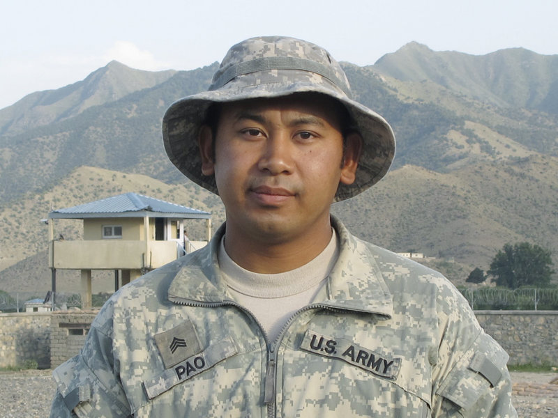 After surviving a perilous tour in Iraq in 2004-05, Sgt. San Pao of Standish now serves as a squad leader in Afghanistan for the Maine Army National Guard's Bravo Company.
