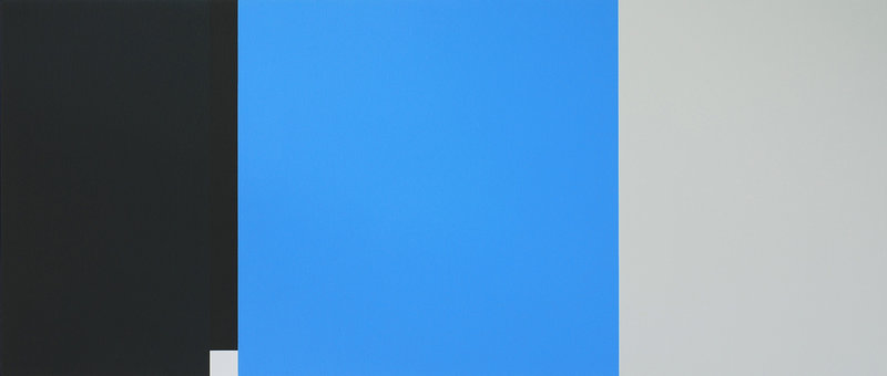 """Martha Groome's """"Where Blue Comes In,"""" 24 by 56 inches, acrylic on canvas, at ICON Contemporary Art in Brunswick"""