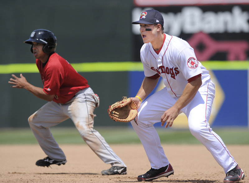 Anthony Rizzo has already hit some tape-measure home runs for the Sea Dogs, and hitting coach Dave Joppie says more will come as he refines his swing.