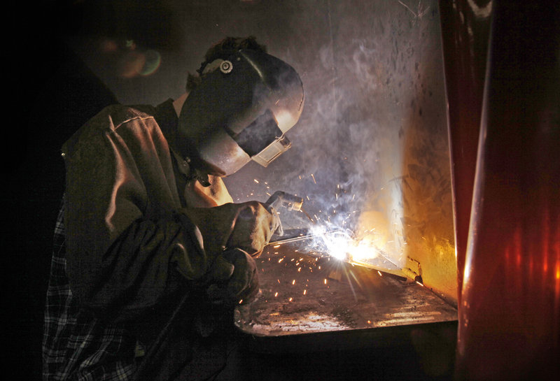 Zack Roland, 14, practices welding at the camp funded by the Nuts, Bolts & Thingamajigs foundation.