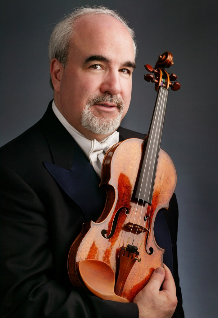 Glenn Dicterow, first violinist with the New York Philharmonic, will perform Friday at Brunswick High School.