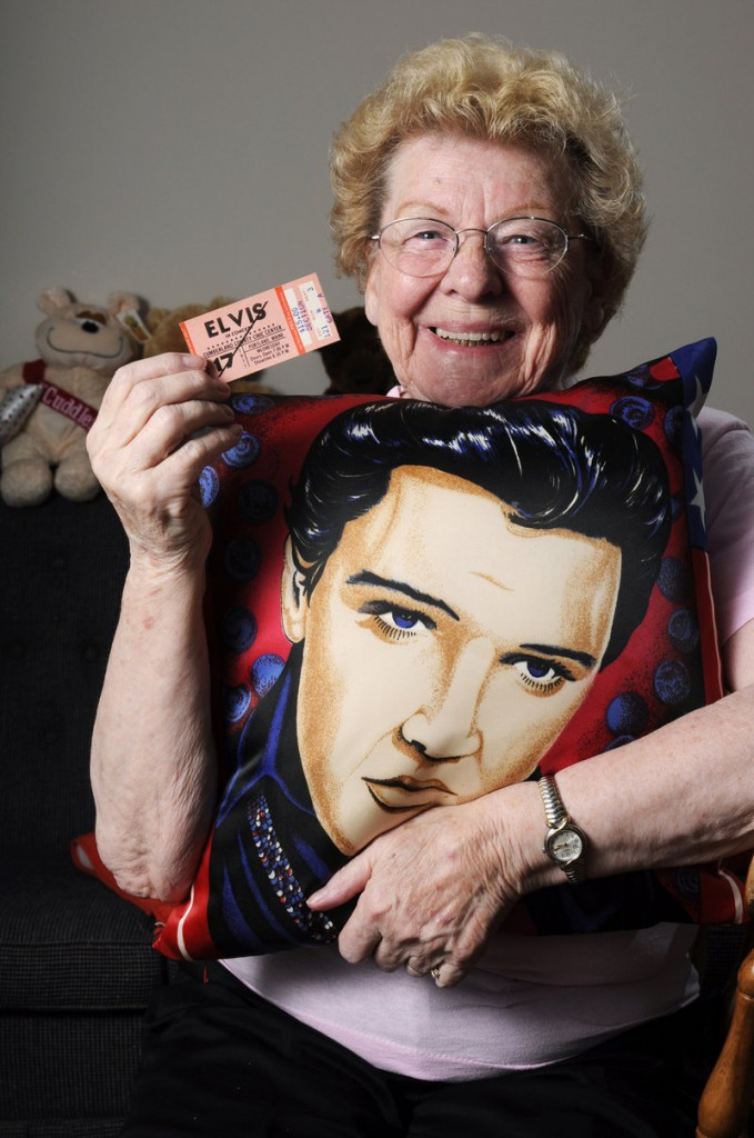 Alice Dickey of South Portland is a member of True Fans for Elvis, which formed after the singer's death in 1977, and also is the manager of Elvis tribute performer Robert Washington of Auburn.