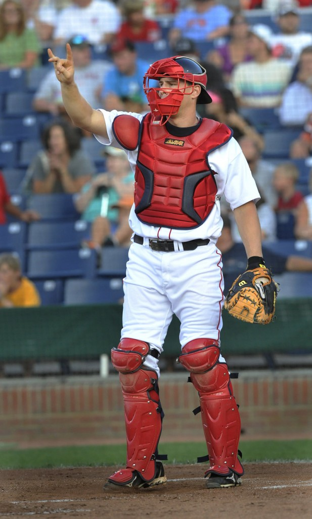 Ryan Lavarnway, who also played outfield in high school and college, has been working on his defense with the Sea Dogs. The Red Sox performed a makeover on his mechanics.