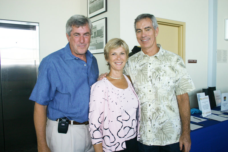 John Edwards, of sponsor Bangor Savings Bank and a former board member, Mary Fuller, a former board chairwoman of the Maine chapter, and Sumner Weeks, a former board member.