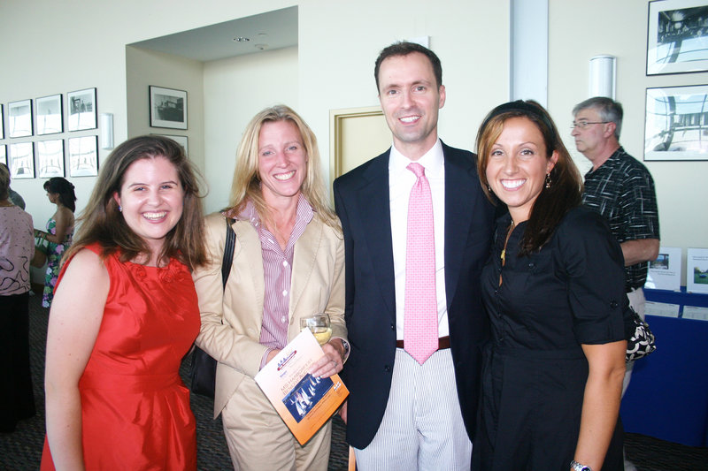 Emma Lishness, Malinda Lawrence, Tim Shannon and Lisa Skerlick, who all work at law firm and event sponsor Verrill Dana.