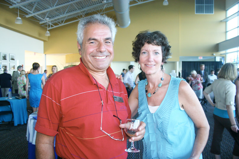 Robert Picone, who serves on the MS Society board, and Sheila Nee, of the Convention and Visitors Bureau and a member of the volunteer committee.