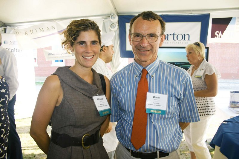 Melissa Metivier and Dave Reinheimer, who are both with Harriman Architects & Engineers.