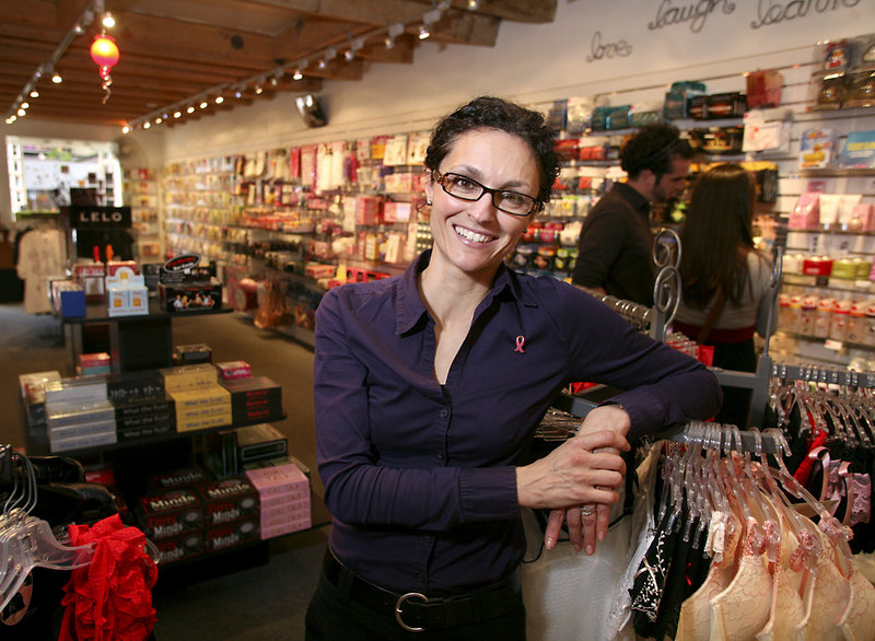"""Nelly Hall, who's been selling """"adult"""" items at CS Boutique in Portland for 19 years, thinks it's great that the city made Men's Health's """"Hotbeds of Sex"""" list, even if it came in last. """"Sometimes, you get as much attention for being last as for first,"""" she said."""