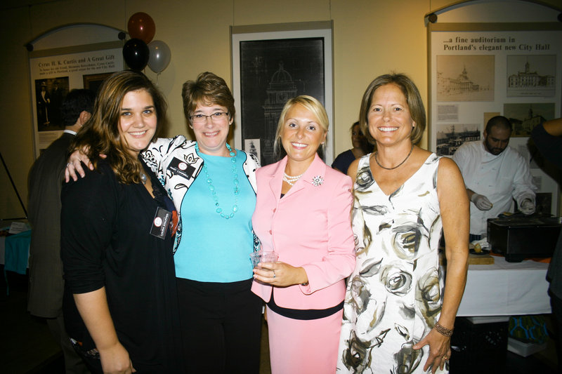 Laura Stauffer, a Portland Ovations administrator, Mary Campbell, Portland Ovations development director, April Ylvisaker, event co-chair and board member, and Patti Roderick, event co-chair and board member.