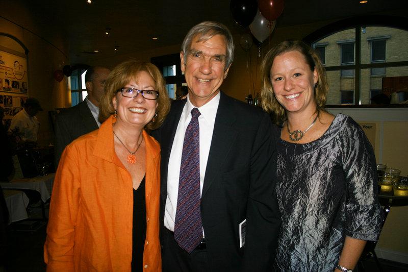 Felicia Knight, a board member, Nick Nadzo, an advisory board member, and Aimee Petrin, the executive director.
