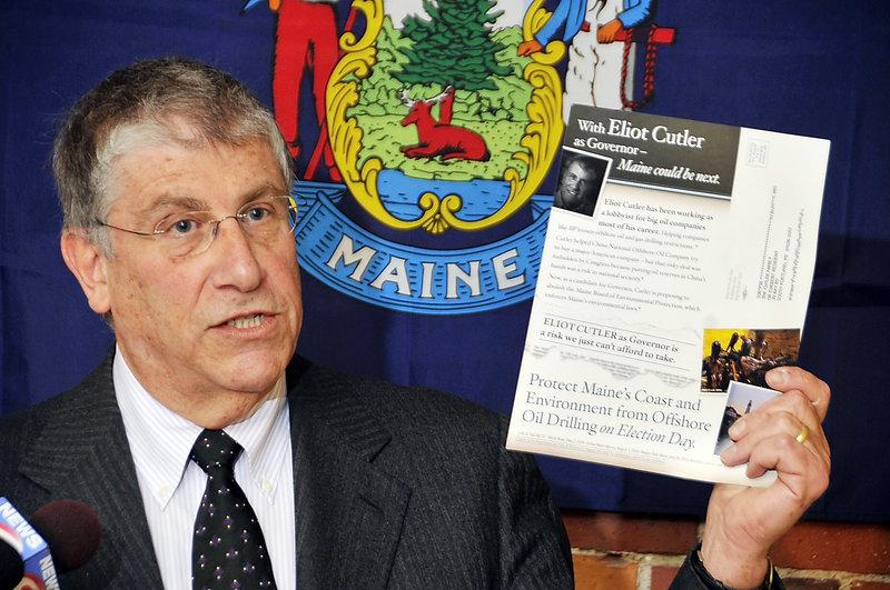 Independent gubernatorial candidate Eliot Cutler