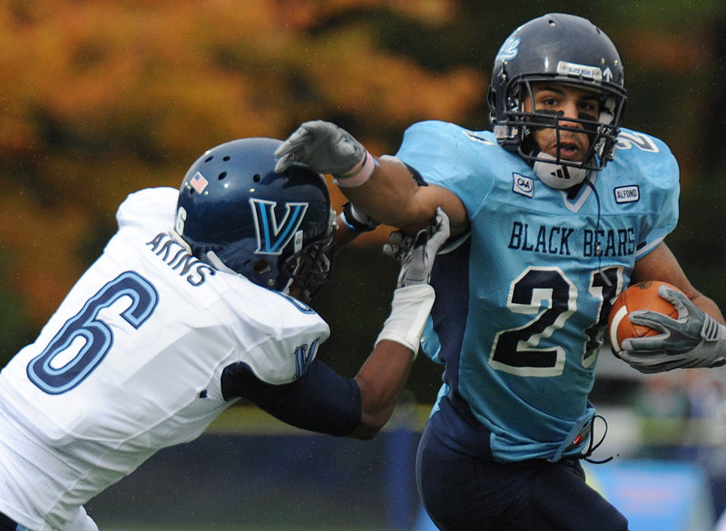 Running back Jared Turcotte is questionable for the University of Maine's game today against 15th-ranked Massachusetts, which owns a 40-15-1 lead in the series.