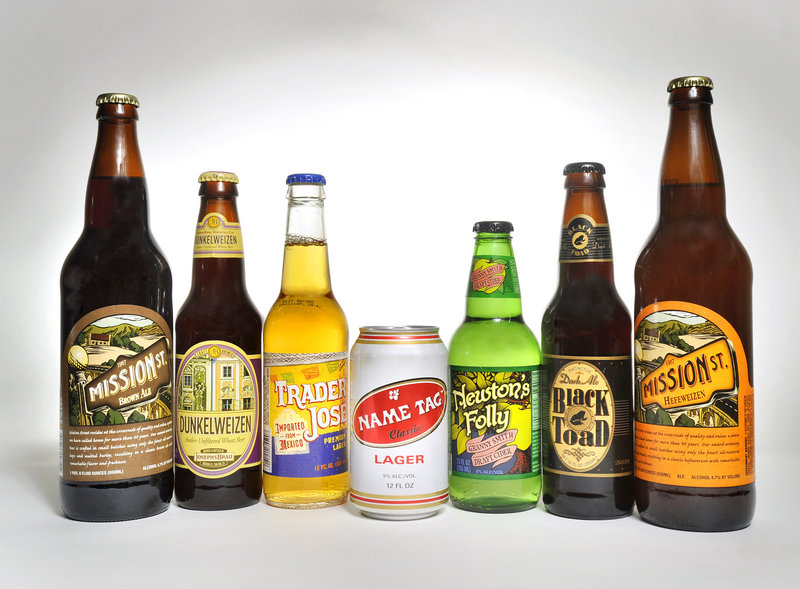 You can find an interesting selection of local and nationally distributed brews at Trader Joe's, but you won't find Budweiser, Coors or Miller.