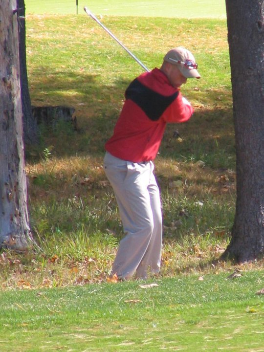 Mike Arsenault of Gorham, who only has been playing golf for five years, shaved 11 strokes off his handicap over the past two years.