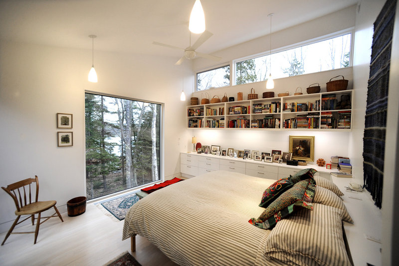 The master bedroom, with its view of the New Meadows River.