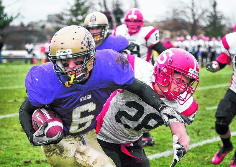 A receiver as a freshman, Peter Gwilym switched to quarterback as a sophomore, and as a senior led Cheverus to its first football state championship in 25 years.