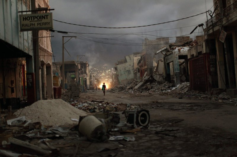 Rubble covers the streets of Port-au-Prince a month after an earthquake devastated Haiti's capital Jan. 12.