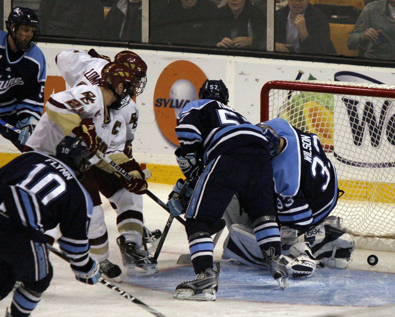 It hasn't always been smooth skating for the once-powerful University of Maine hockey team under Coach Tim Whitehead, but the Black Bears made it to the Hockey East championship game in Boston last season and have built a platform to continue contending as this season goes on.