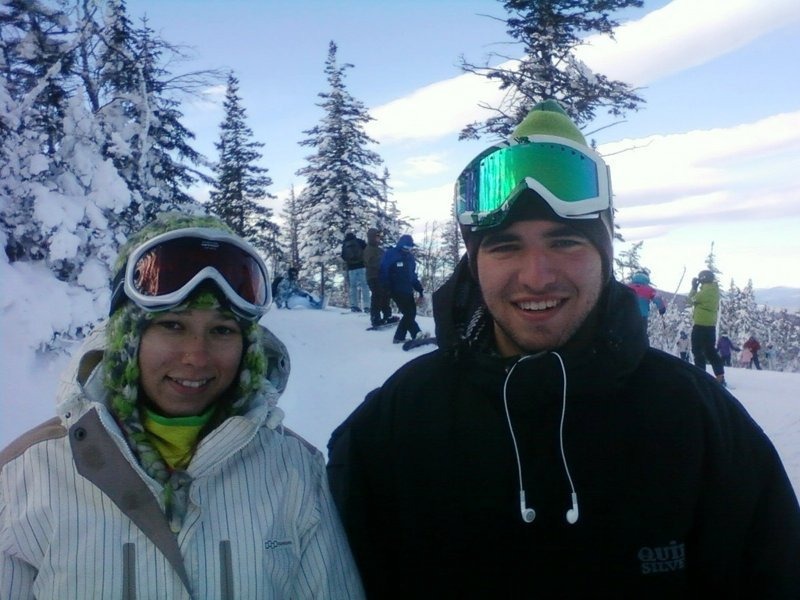 Jeremy Smith and Chelsea Gibbin, both of Cumberland, said they had no qualms about skiing at Sugarloaf on Wednesday.