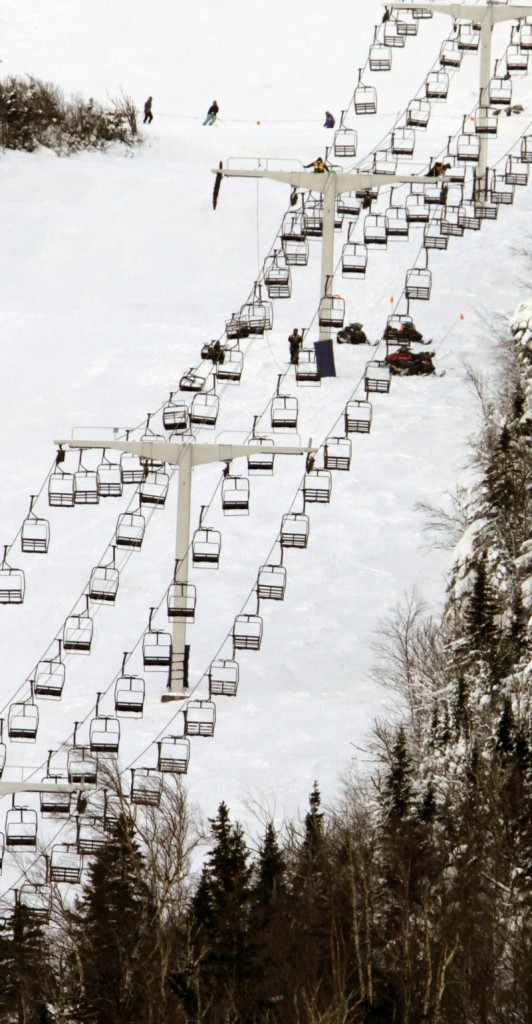 The Spillway East chairlift remains closed Wednesday – with part of its cable and chairs still on the snow where they fell – as state inspectors investigate Tuesday's accident, which injured eight people.