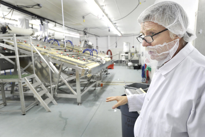 Jeffrey Holden, owner of Portland Shellfish Co., has been investing heavily in new processing equipment at the company's lobster and shrimp facility on Waldron Way in Portland, shown here, and its crab processing facility on Dartmouth Street in South Portland.