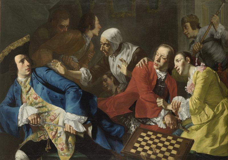 """Gaspare Traversi's """"The Quarrel,"""" circa 1752."""