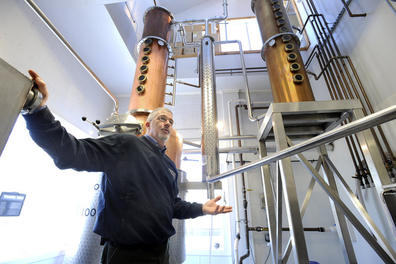 Chris Dowe, the head distiller and a partner in Maine Distilleries LLC in Freeport, developed the recipe for Cold River Vodka.