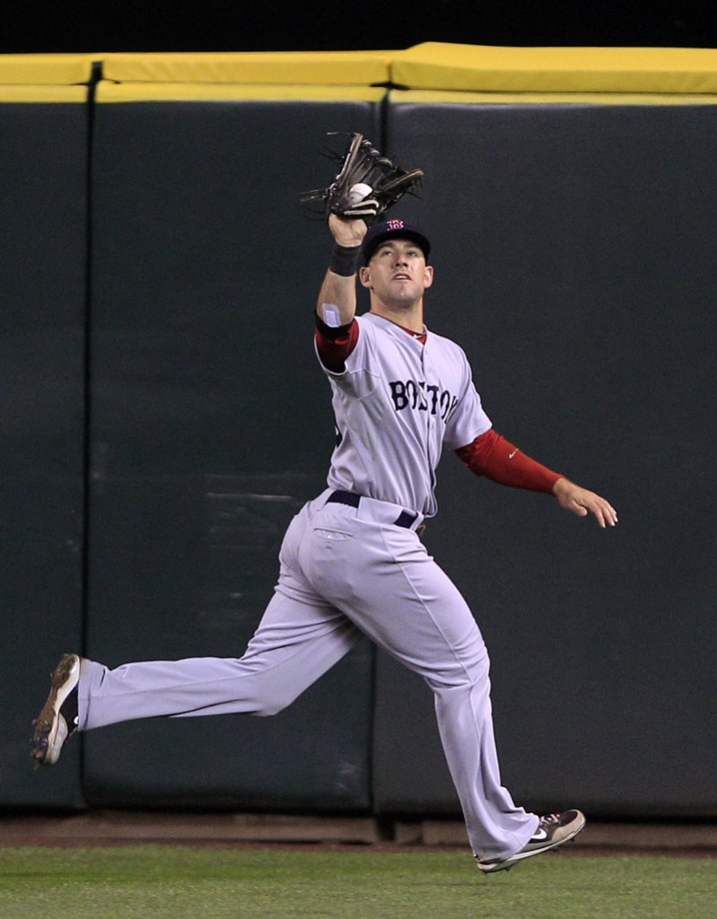 Ryan Kalish started last season with the Portland Sea Dogs before getting called up to the Red Sox, where he played left field and hit .274 in September and October.