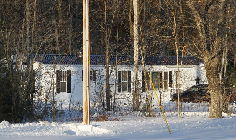 A Sanford man was shot and killed by a sheriff's deputy at this house on Faucher's Lane in Lyman on Saturday.
