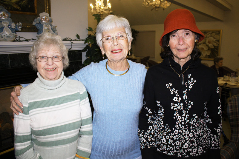 Sue Horne, Eleanor Panzuto and Eliana Chili.