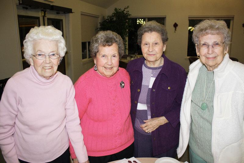Lillian Stevens, Shirley Butler, Merna McKenney and Ruth Baker.