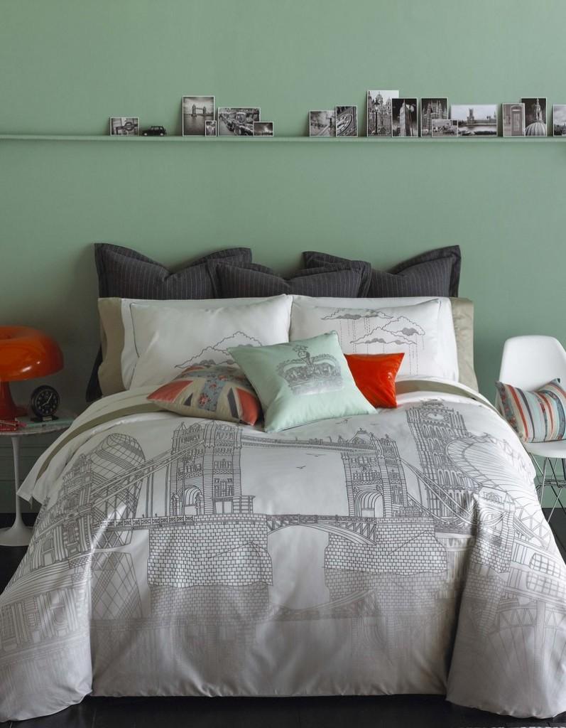 Bliss Living Home's London Bridge printed bedding