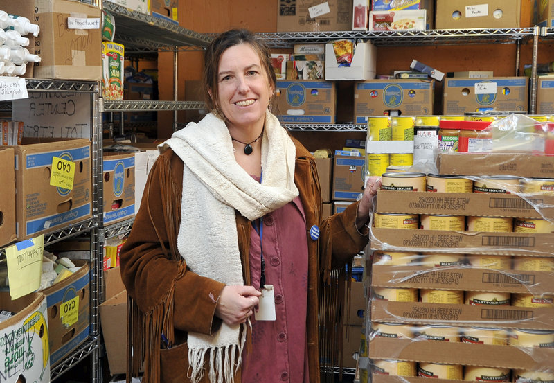 """Donna Yellen, advocacy director, Preble Street: """"We've seen the longer lines (of hungry people) and the decreasing food."""""""