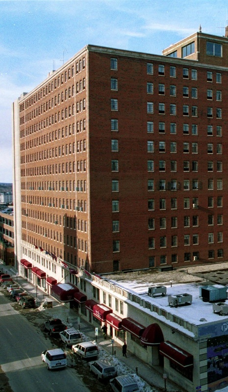 The 83-year-old Eastland Park Hotel, which has Portland's only rooftop lounge, towers over Congress Square in the heart of the city's arts district.