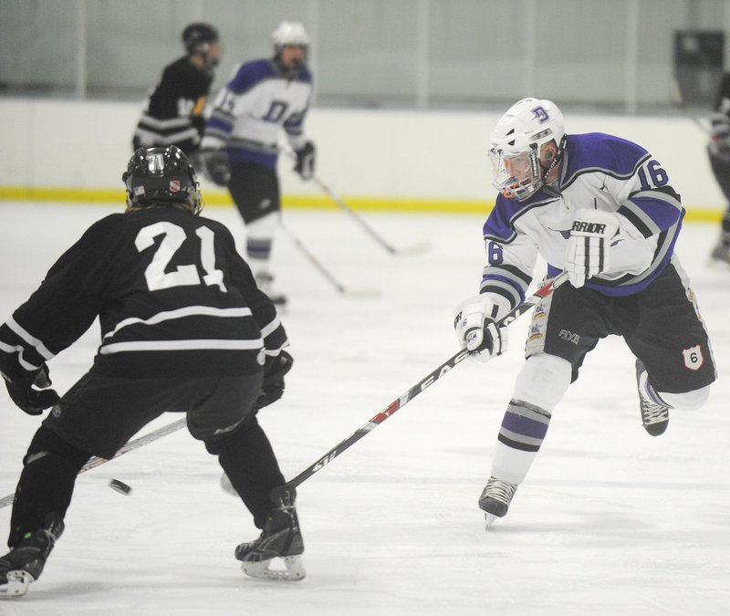 Deering High takes on the MHW Hawks in a January hockey game at the Portland Ice Arena. Making the facility available for school use cuts into the city's bottom line.