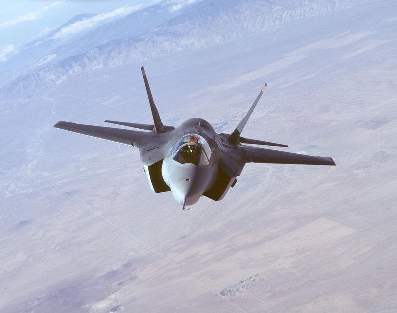 F-35 Lightning II Joint Strike Fighter in flight.