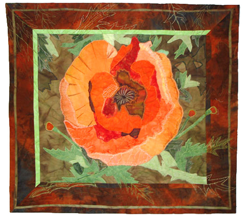 """""""Poppy"""" by Kathy Angel Lee of Old Orchard Beach."""