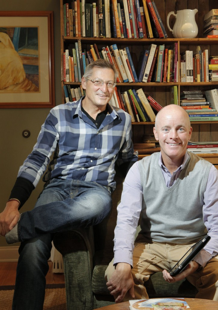 Jim Stott, left, and Jonathan King started Stonewall Kitchen 20 years ago, first selling jam at farmer's markets in coastal towns throughout New England.