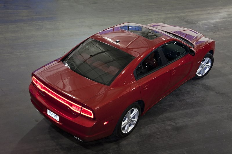 The new Charger looks good from all angles – even from above.