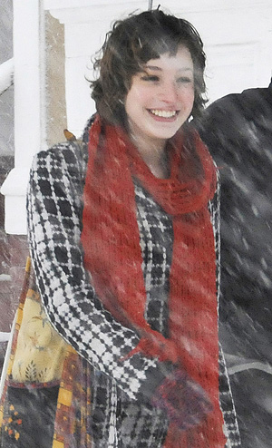 A Jan. 28, 2009, photo of Zoe Sarnacki during a snow storm in Portland. Chad Gurney was convicted today of killing her on May 25, 2009.