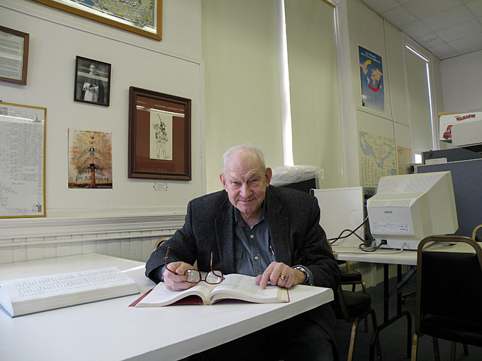 Normand Angers is president of the Maine Franco-American Genealogical Society in Auburn. Angers needs to find a new home for the society's collections before June 1.