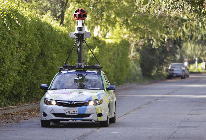 A Google car prowls Palo Alto, Calif., streets for Street View images. Now, tricycles are in use, too.