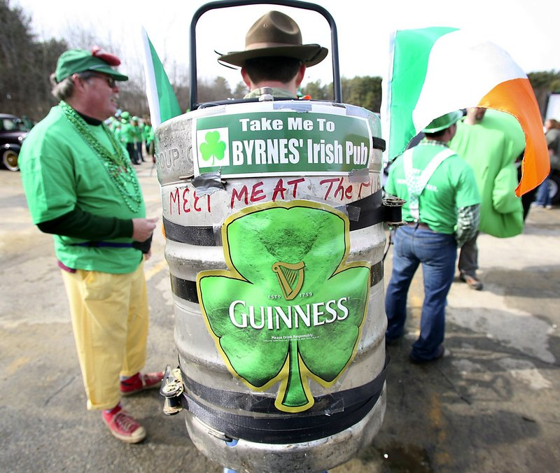A scene from a past St. Patrick's Day parade in Portland.